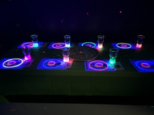 Glow Parties!!!!  Includes souvenir flashing cups and glow necklace and bracelet for all guests.